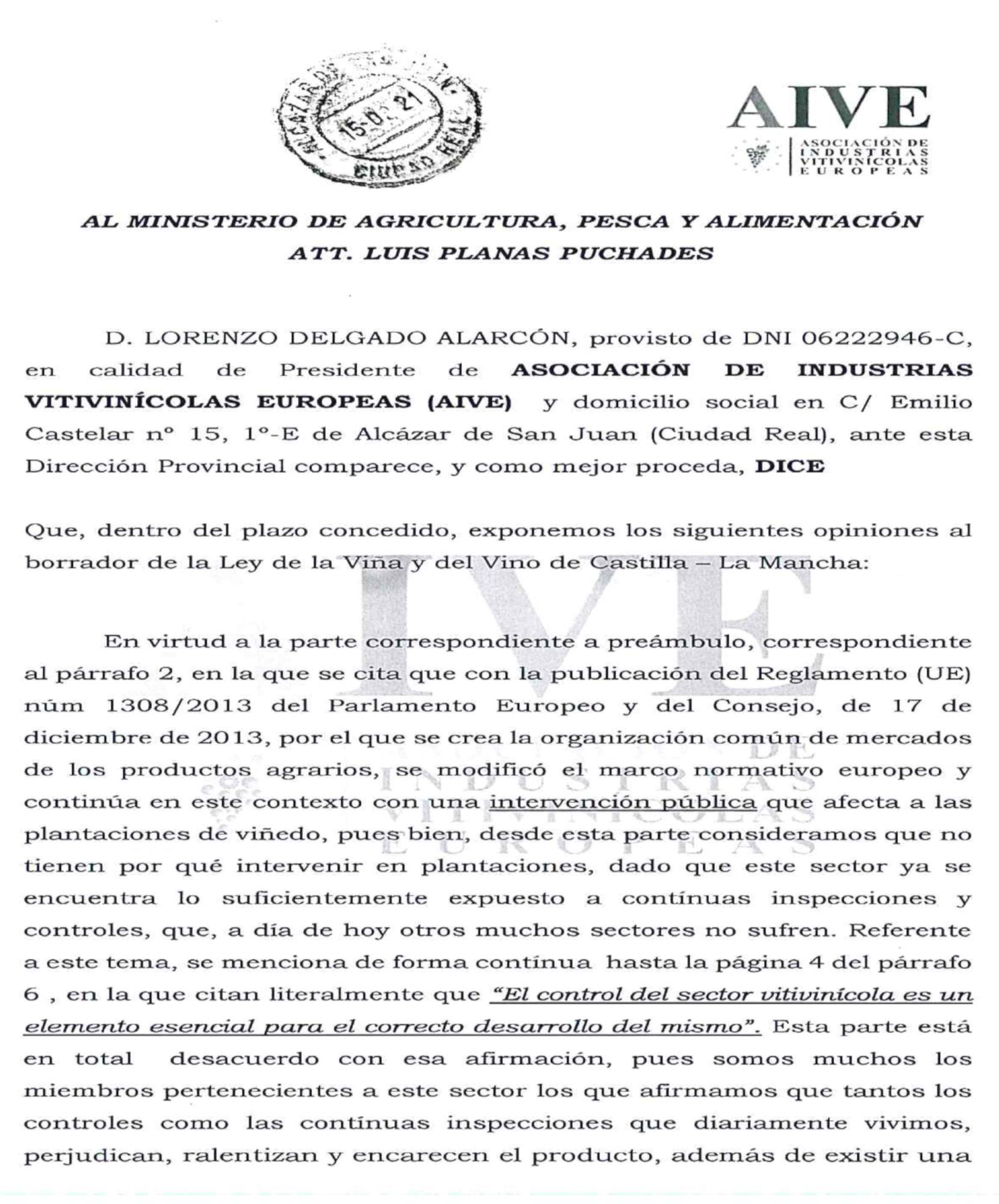 Observaciones a la Ley de la Viña y el Vino de Castilla La Mancha