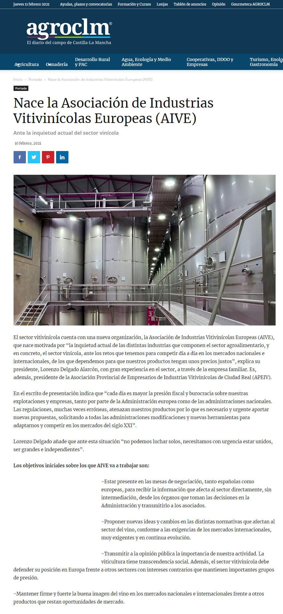 Noticia Nace la Asociación AIVE