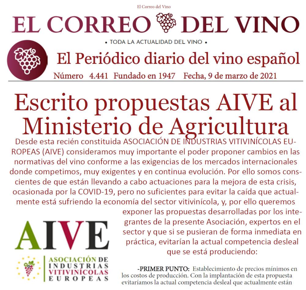 Caratula Noticia el correo del vino.